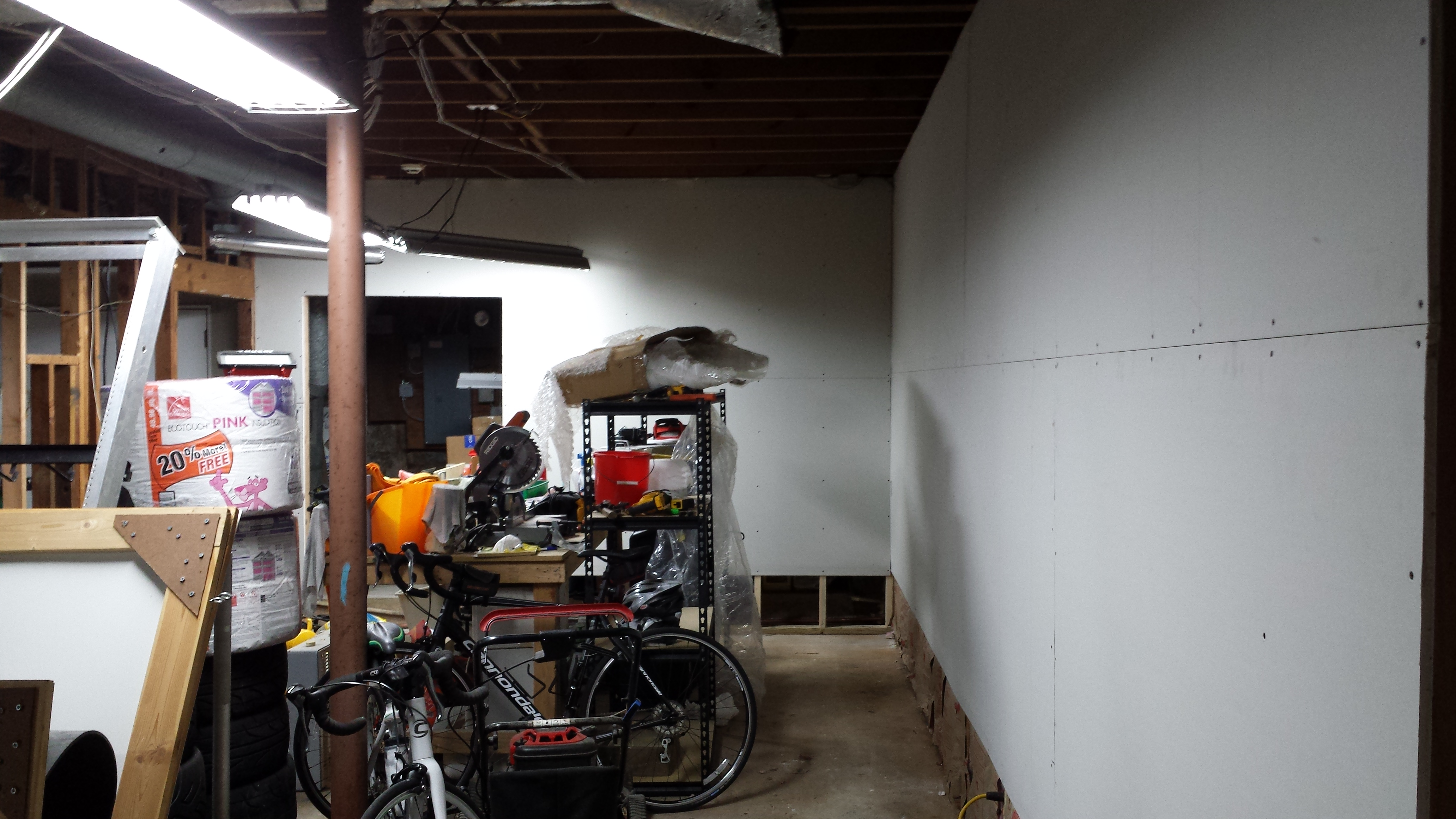 Drywall is up