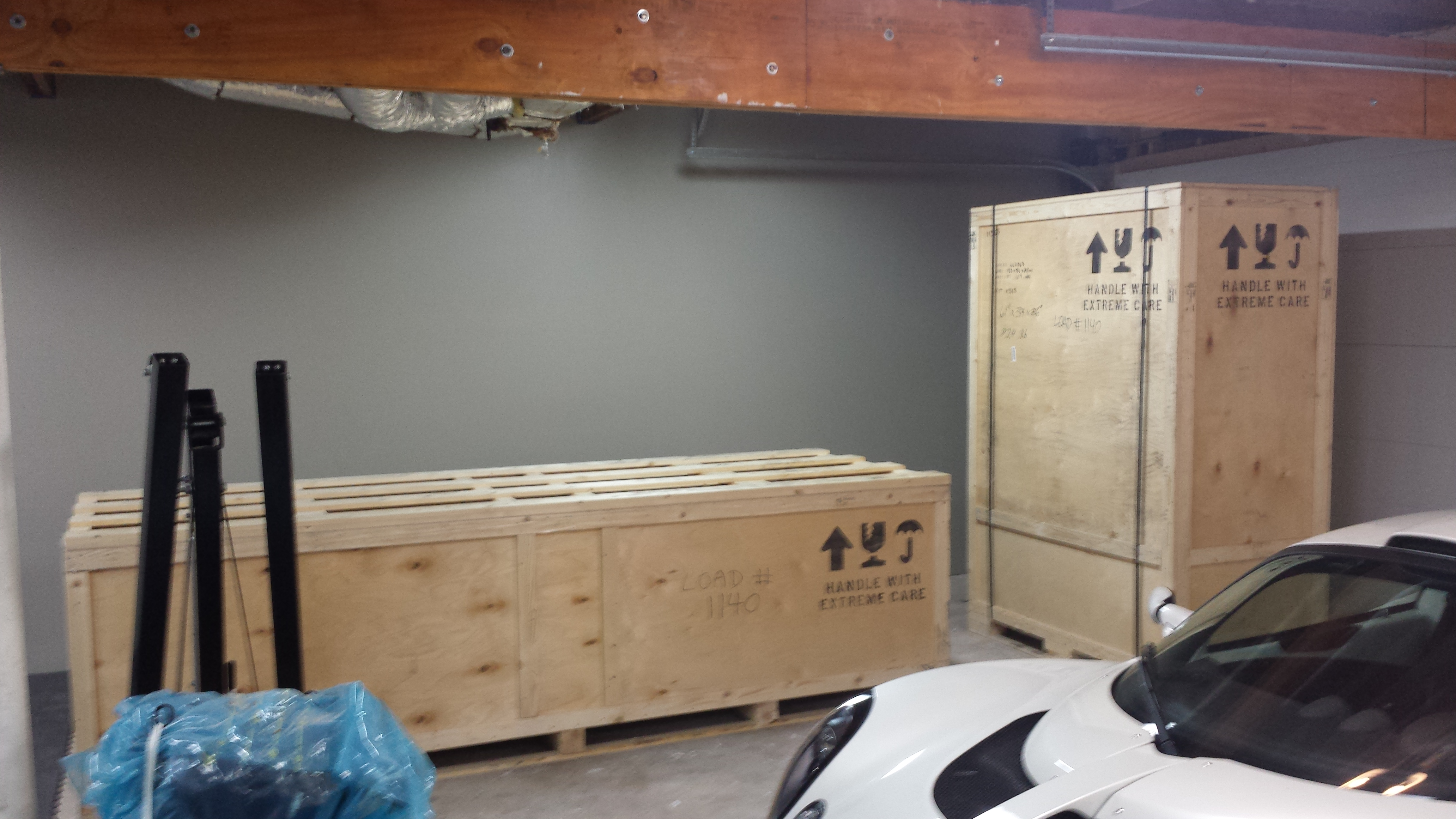Both boxes in the garage