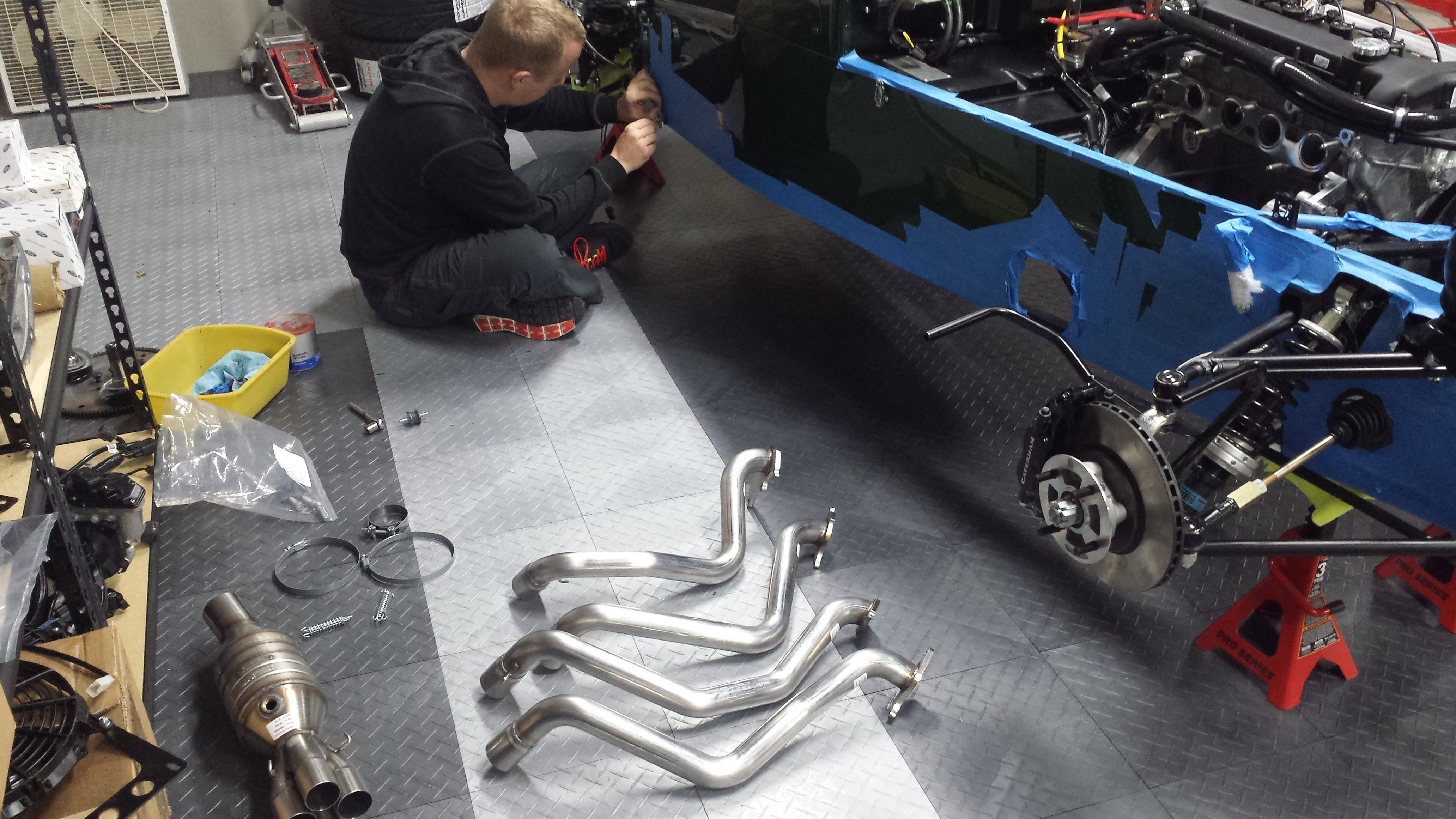 Exhaust install