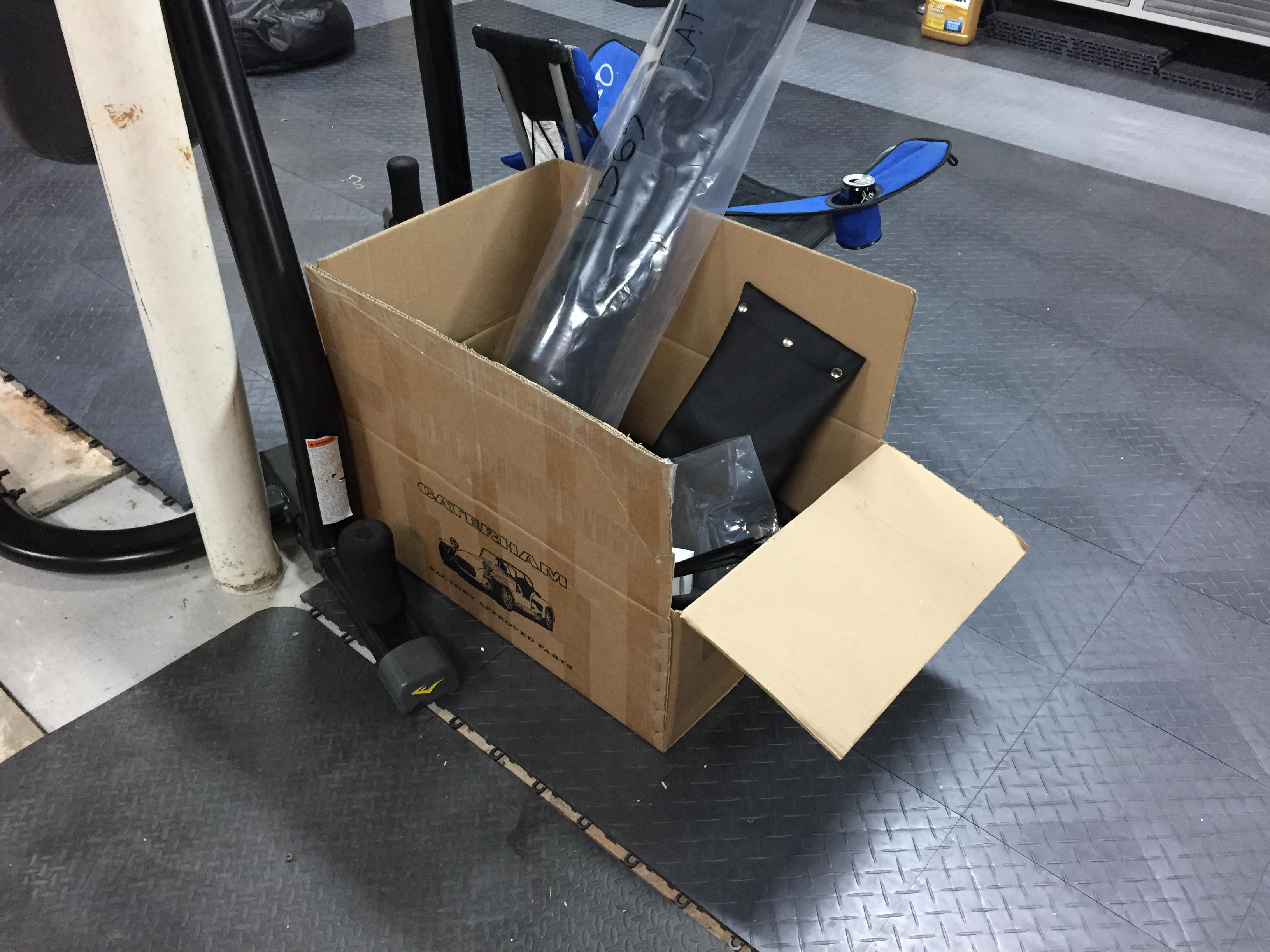 One box left