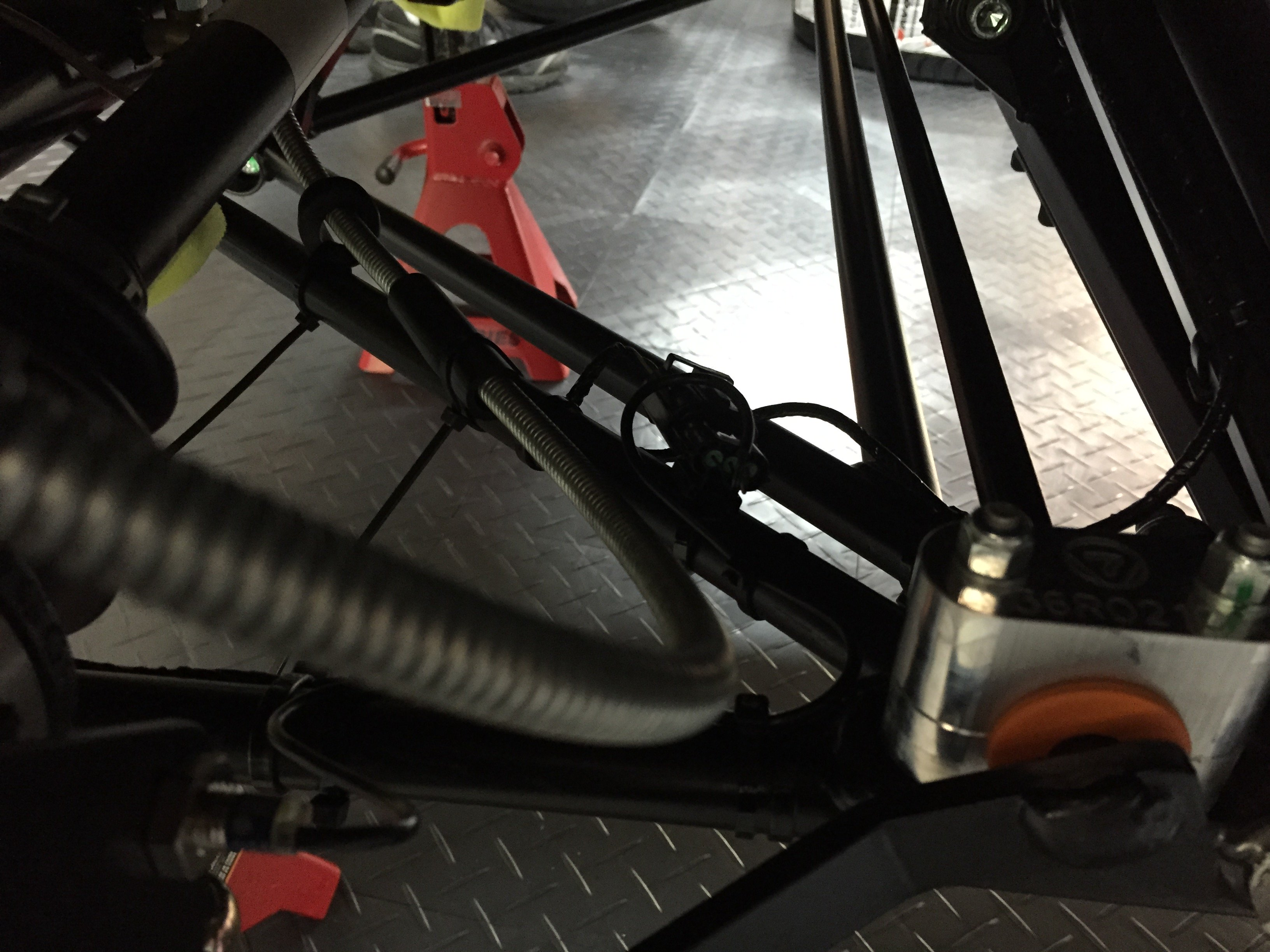 E-brakes on with zip ties